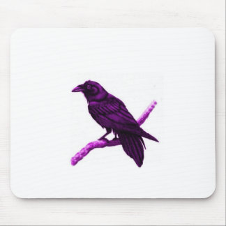 Raven in Purple Gifts by Sharles Mouse Pads