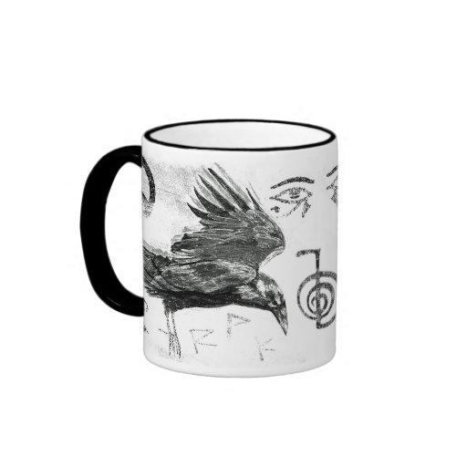 raven journey ringer coffee mug