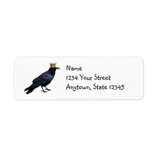 Raven King Return Address Labels