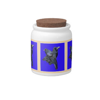 Raven Lovers Purple Gifts by Sharles Candy Jars