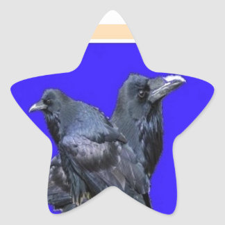 Raven Lovers Purple Gifts by Sharles Star Sticker
