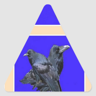 Raven Lovers Purple Gifts by Sharles Triangle Sticker