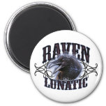 Raven Lunatic 2 Inch Round Magnet