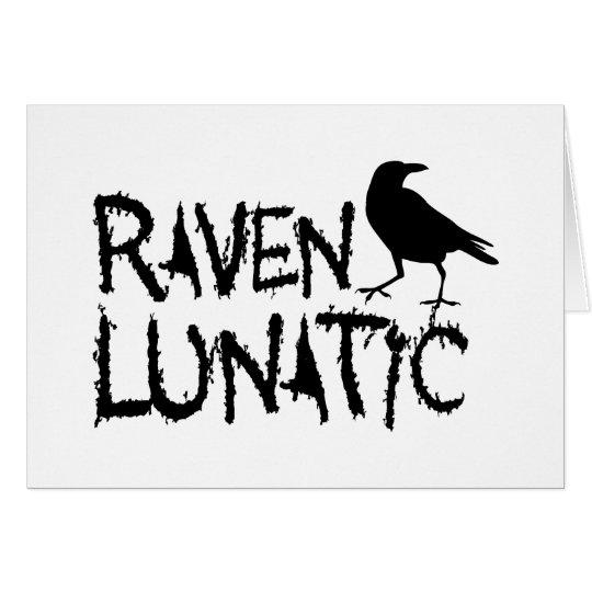 Raven Lunatic Black Crow Card