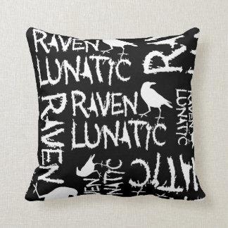 Raven Lunatic Black Crow Pillow