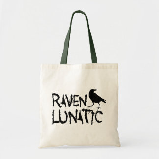 Raven Lunatic Black Crow Tote Bag