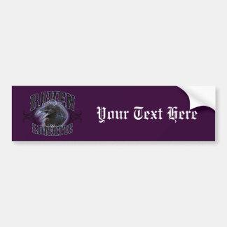 Raven Lunatic Car Bumper Sticker