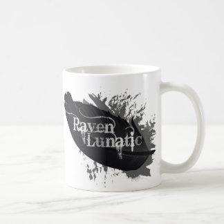 Raven Lunatic Fun Quote for Raven Bird Lovers Coffee Mug