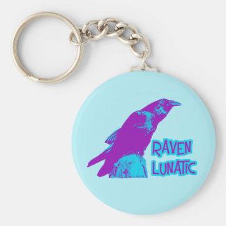 Raven Lunatic Keychain