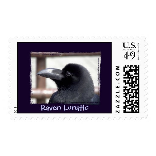 Raven Lunatic Postage Stamps
