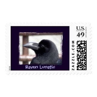 Raven Lunatic Stamp