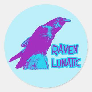 Raven Lunatic Round Sticker