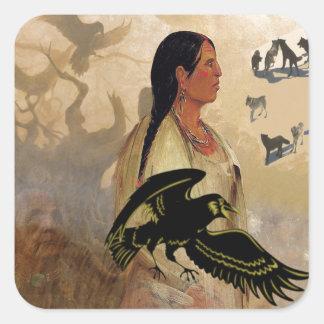 Raven Maven Square Sticker
