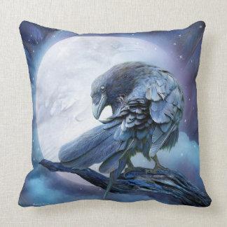 Raven Moon Art Decorator Pillow