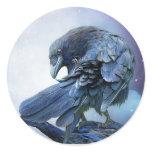 Raven Moon Art Sticker