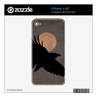 RAVEN MOON iPhone 4S DECAL