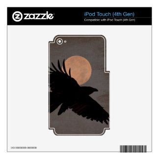 RAVEN MOON SKINS FOR iPod TOUCH 4G