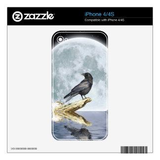 Raven & Moon Wildlife Art iPhone 4 Skin