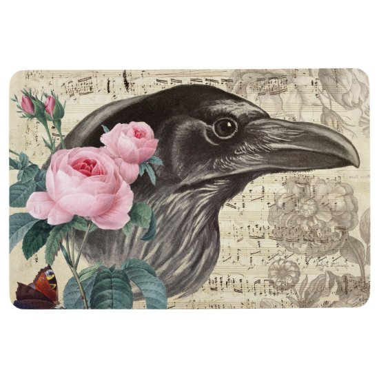 Raven Music Floor Mat