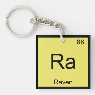 Raven Name Chemistry Element Periodic Table Keychain