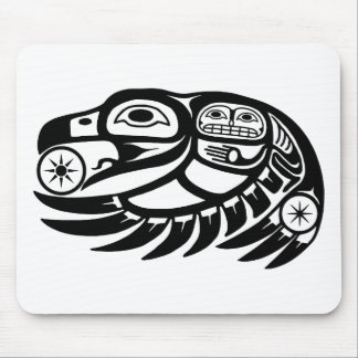 Raven Native American Design Mouse Pad