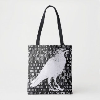 Raven Never More Tote Bag
