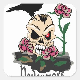Raven Nevermore Square Sticker