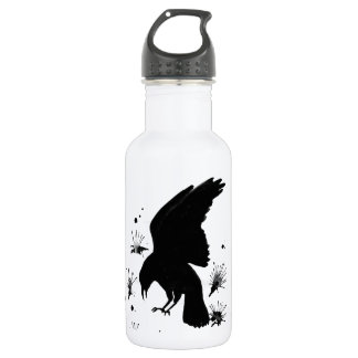 Raven Nevermore Stainless Steel Water Bottle
