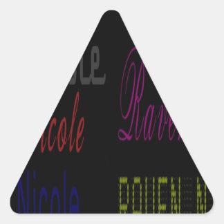 Raven Nicole Apparel Multiple Names Triangle Sticker