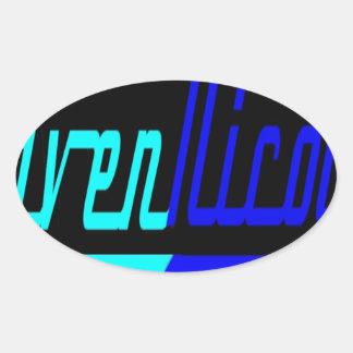 Raven Nicole Logo Oval Sticker