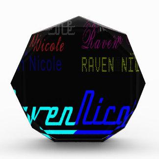 Raven Nicole Regular Logo and Numerous Names Acrylic Award