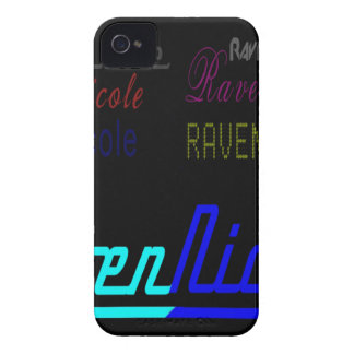Raven Nicole Regular Logo and Numerous Names Case-Mate iPhone 4 Case
