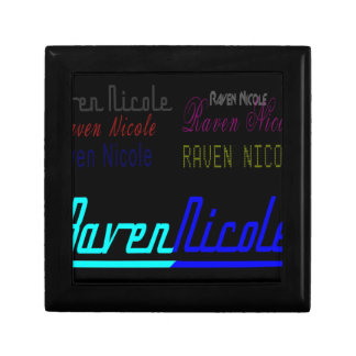 Raven Nicole Regular Logo and Numerous Names Keepsake Boxes