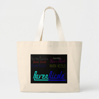 Raven Nicole Regular Logo and Numerous Names Large Tote Bag
