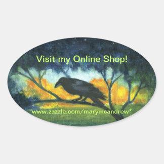 Raven Night Sky - customizable stickers