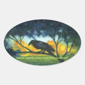 Raven Night Sky - stickers