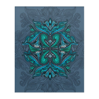 Raven of mirrors, dreams, bohemian, shaman acrylic wall art