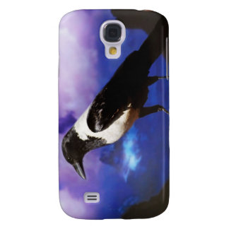 Raven on a fence galaxy s4 case