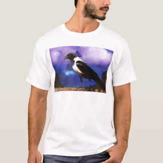 Raven on a fence T-Shirt