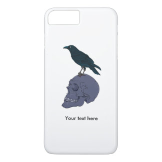 Raven On A Human Skull iPhone 7 Plus Case