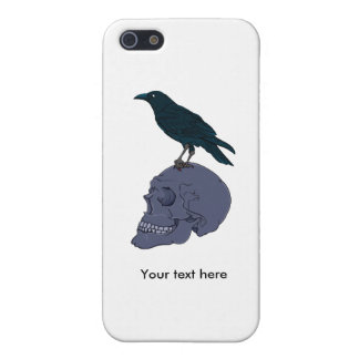 Raven On A Human Skull iPhone SE/5/5s Case