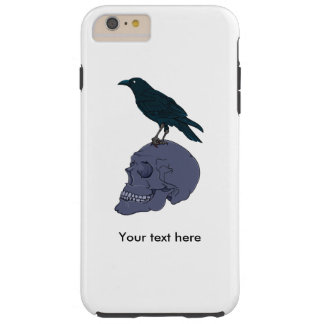 Raven On A Human Skull Tough iPhone 6 Plus Case