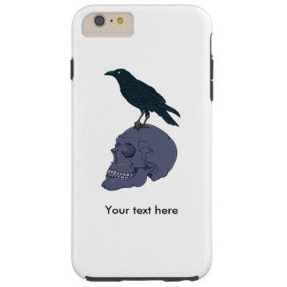 Raven On A Human Skull Tough iPhone 6 Plus Case