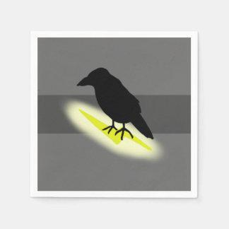 Raven on Lightning Paper Napkin