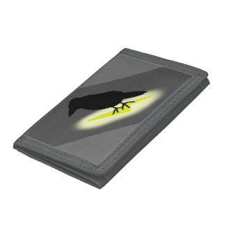 Raven on Lightning Tri-fold Wallet