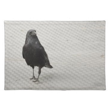 Halloween Themed raven on metall cloth placemat