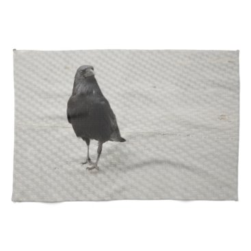 Halloween Themed raven on metall kitchen towel