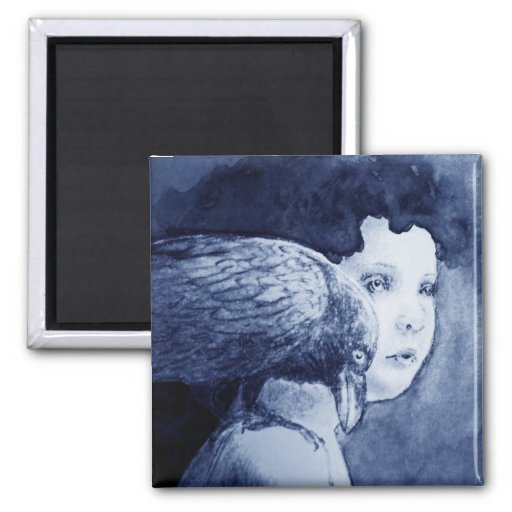 Raven On My Shoulder Magnet