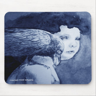 Raven On My Shoulder Mousepad