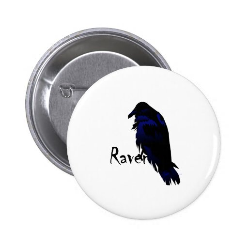 Raven on Raven Buttons